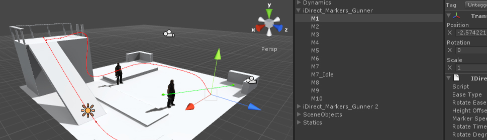 iDirect Character Staging and Blocking for Unity3d